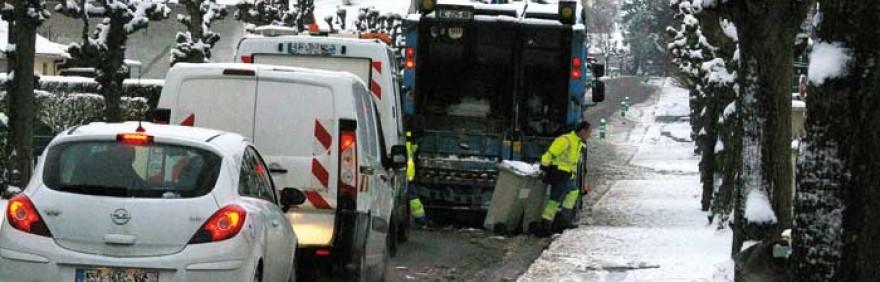 Neige et collecte des déchets