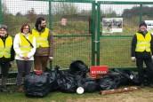 nettoyage déchets au Plessis Brion en 2017