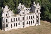 Château Mennechet à Chiry-Ourscamp vu d'un drone
