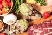 exemples de produits locaux (oeufs, fruits, légumes et viande)