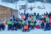 groupe de jeunes de la CC2V au ski
