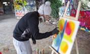 Séquence de street art avec Nicolas Corbeaux
