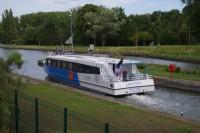 Arrivée du bateau Escapade sur l'Oise