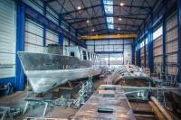 construction du bateau croisière de la CC2V (Oise) - crédit photos : Yatux Prod